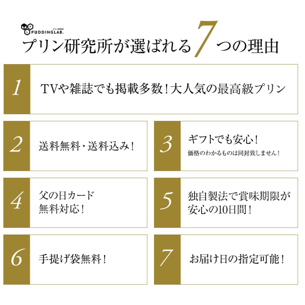 プリン研究所が選ばれる7つの理由