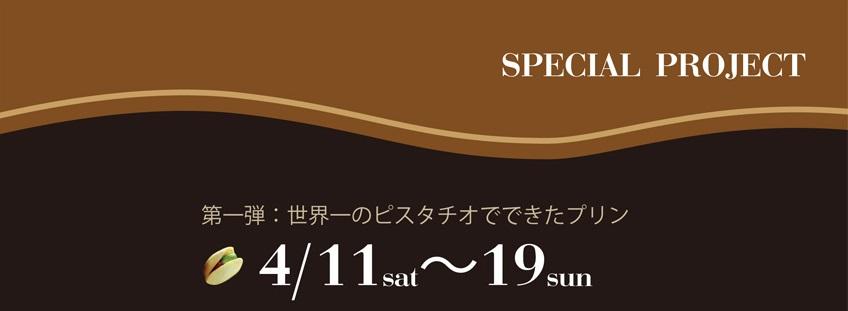 4月11日から始まるSPECIAL PROJECT  「最高のプリン」